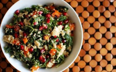 Kale, Quinoa, Chicken & Pomegranate Salad Recipe.