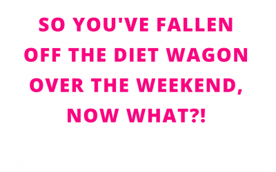What to do when you broke your diet on the weekend.